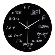 Math Equations Polytechnic Digital Wall Clock