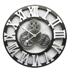 "Retro Rustic Decorative Wall Clock 30""- 50"""