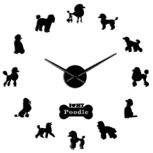Poodle Big Hand Modern Wall Clock