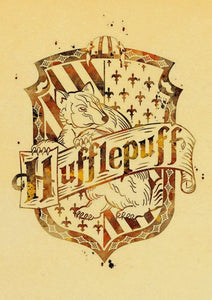 Harry Potter Symbol Vintage Paper Canvas Print
