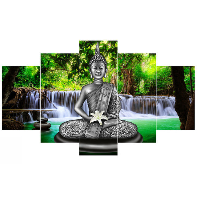 Divine Buddha Canvas Print 5 Pieces