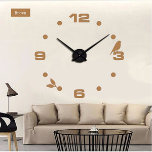 "Bird Quartz Wall Clock 37"" 47"