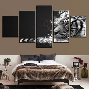 Animal Print Shark Dog Bear Lion Deer Dragon Camel Canvas 5 Pieces
