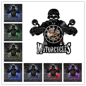 Motorcycles Bikers Wall Clock