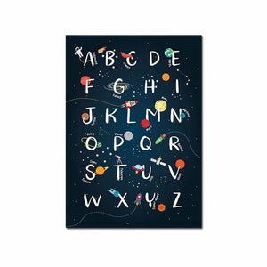 Space Alphabet Canvas Print