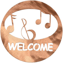 polished-copper-metal-music-welcome-circle-#7055inc