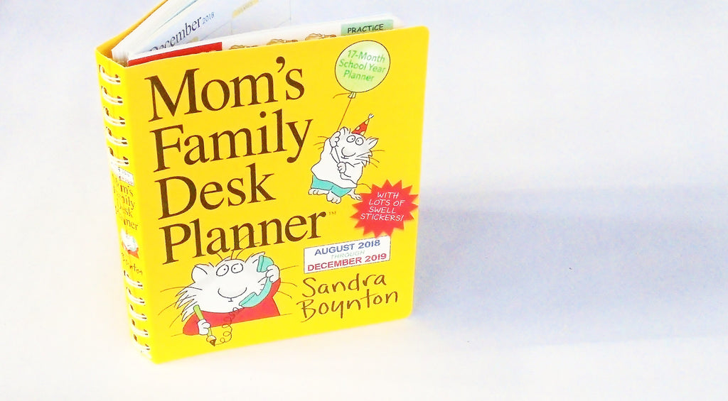 Mom S Family Desk Planner By Sandra Boynton 2019 Calendar Green