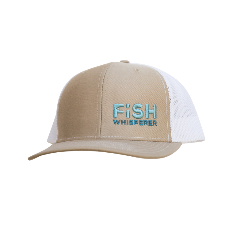 Fish Whisperer Snapback - Khaki/White - Small Fish