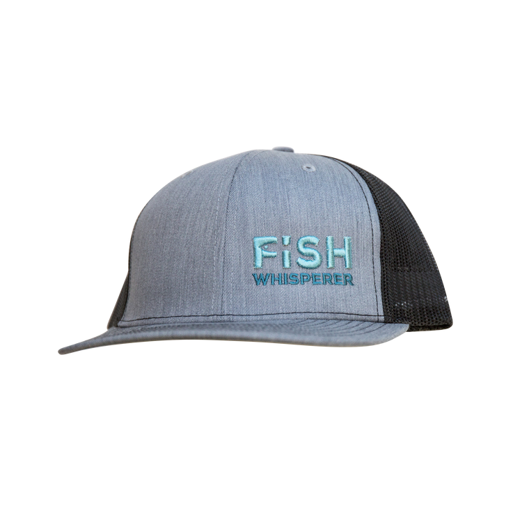 Fish Whisperer Snapback - Heather Gray/Black - Small Fish
