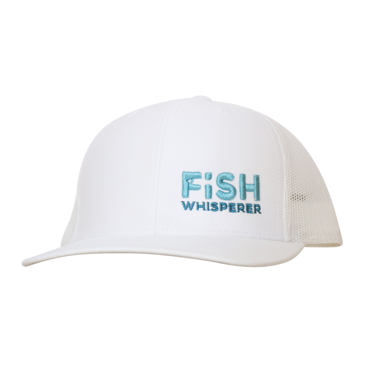 Fish Whisperer Snapback - White/White - Small Fish