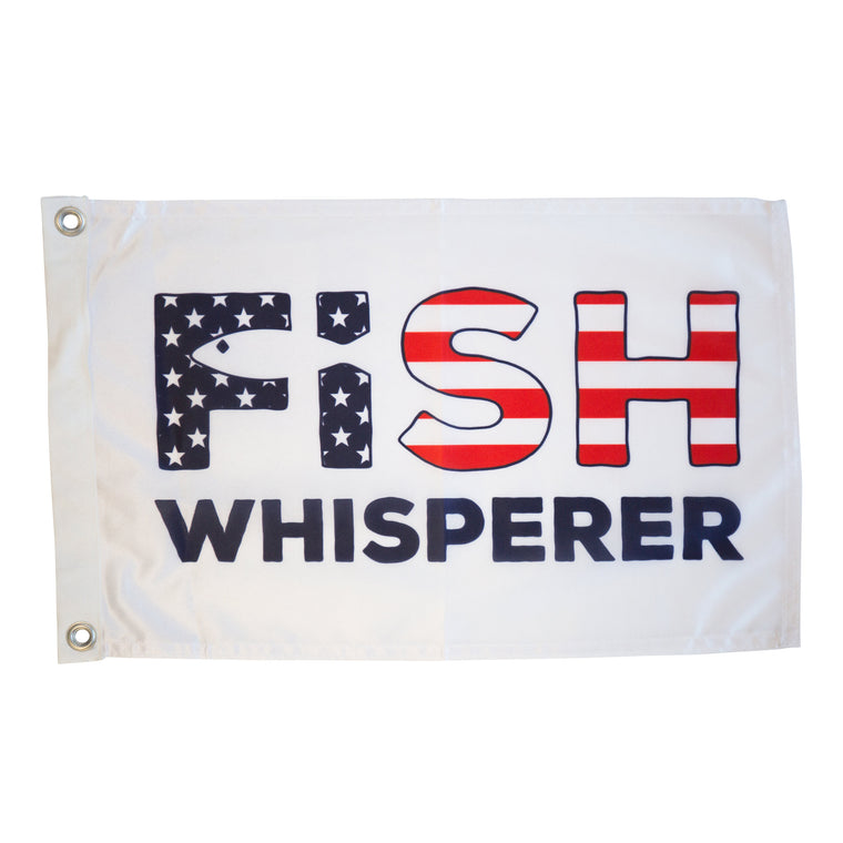 Fish Whisperer Flag - Red, White & Blue