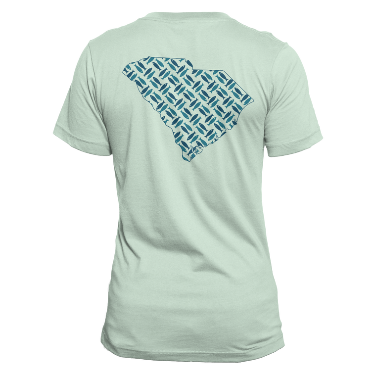 South Carolina Pattern T-Shirt - Seafoam Green