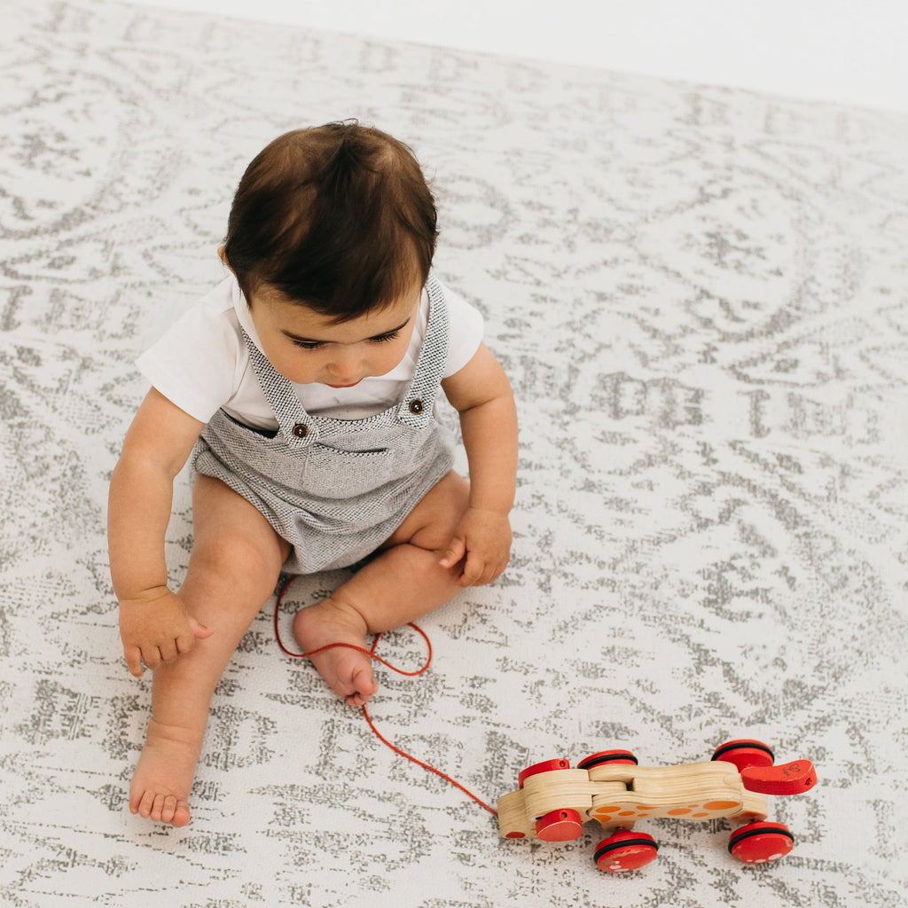 The Romy Rug by Ruggish • Two-Sided, Memory Foam Play Mat with Modern, Oriental Designer Rug Pattern