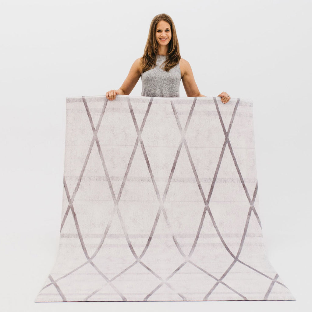 The Liv Rug by Ruggish • Two-Sided, Memory Foam Play Mat with Modern, Norwegian-Inspired Designer Rug Pattern