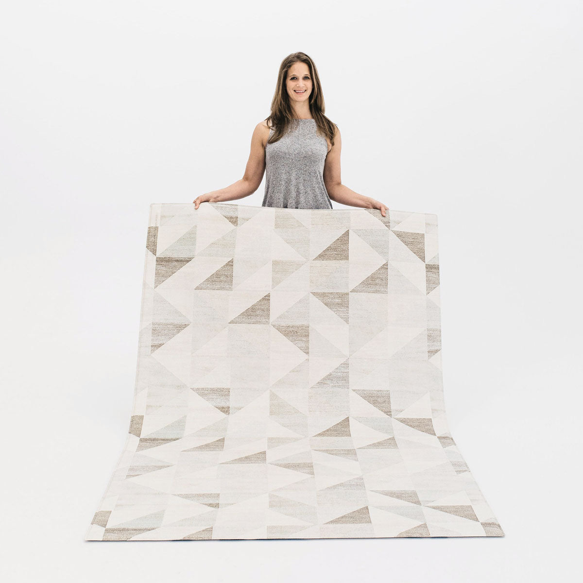 The Lulu Rug by Ruggish • Two-Sided, Memory Foam Play Mat with Modern, Geometric Designer Rug Pattern