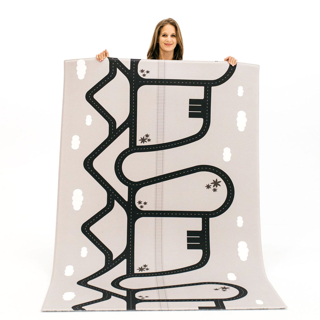 The Lulu Rug by Ruggish • Two-Sided, Memory Foam Play Mat with Interactive Play Map on the Back