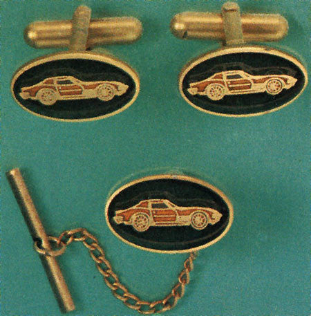 1968 - 1973 Corvette Cuff Links & Tie tack