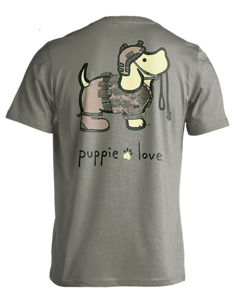 Puppie Love Army T-shirt