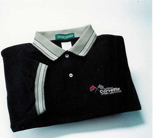 Corvette Golf Shirt - Outer Banks - Black