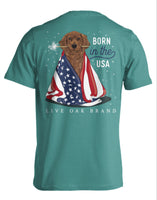Born in the USA T-shirt Live Oak Brand