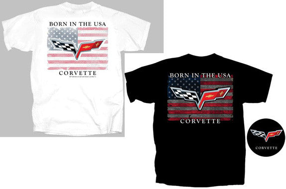 C6 Corvette T-shirt - Born in the USA