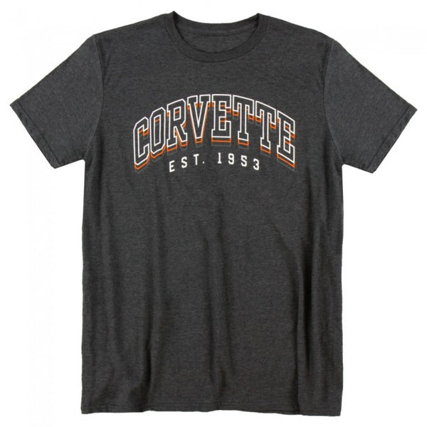 Corvette Est. 1953 Tee Heather Dark Gray