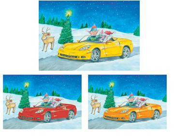 2006 Corvette Christmas Cards