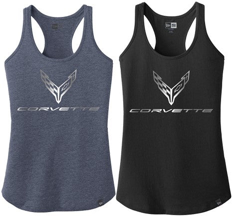 C8 CORVETTE  LADIES FOIL RACERBACK TANK TOP
