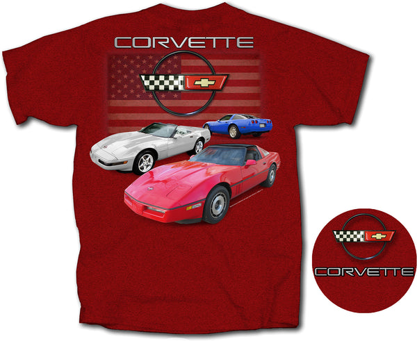C4 Red, White & Blue Corvette T-shirt