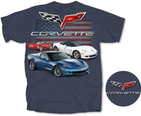 C6 Red, White & Blue T-shirt