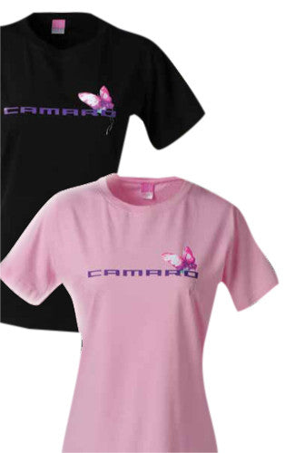 Camaro Butterfly Ladies Tee