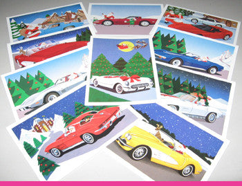Corvette Christmas Cards - Mixed Set