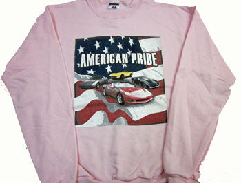 Corvette Sweatshirt Pink Youth - American Pride