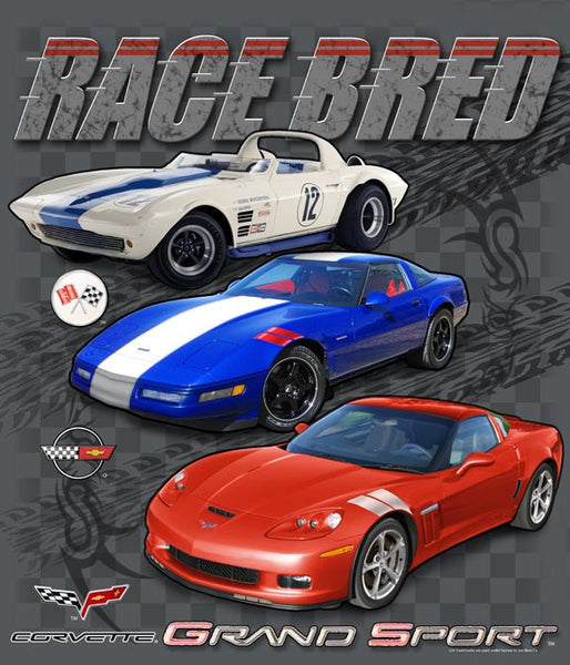 Corvette T-shirt - Race Bred - Grand Sport