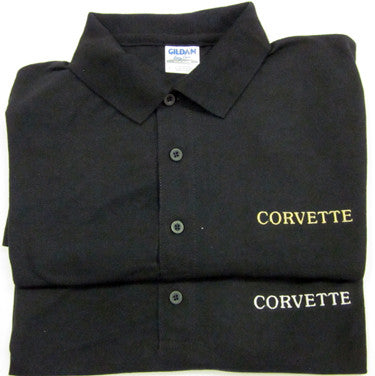 Corvette Golf Shirt - Black