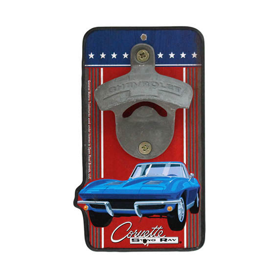 CORVETTE DIE CUT BOTTLE OPENER