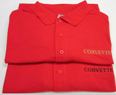Corvette Golf Shirt - Red