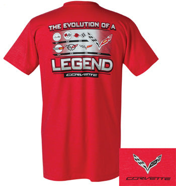 Corvette T-shirt - Evolution of a Legend