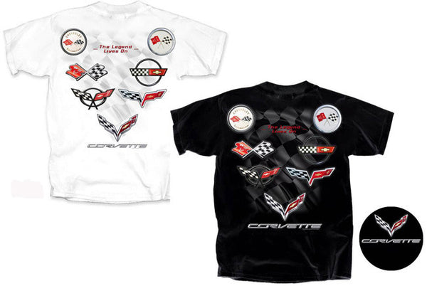 C1 - C7 Logos - Legend Lives On Corvette T-shirt