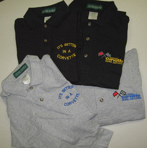 Corvette Golf Shirt - Long-Sleeve