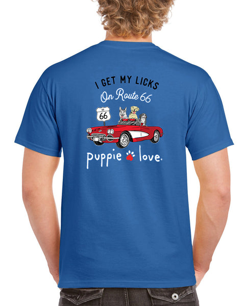 I Get My Licks on Route 66 T-shirt & Long Sleeve Shirt by Puppie Love