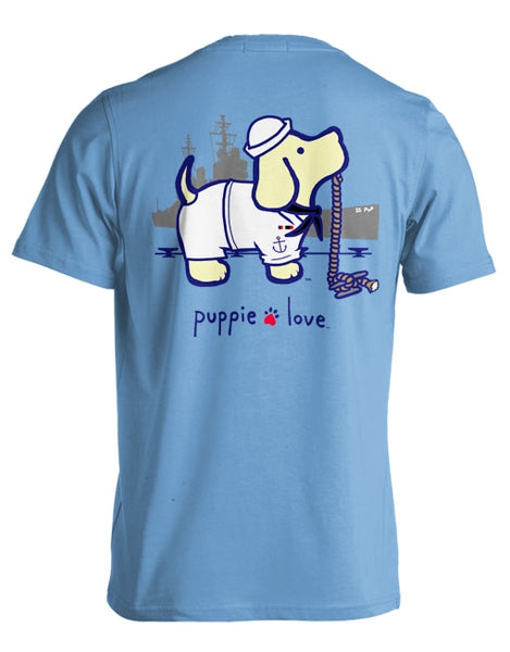 Navy T-shirt by Puppie Love