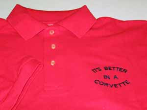 Corvette Golf Shirt - It's Better in a Corvette