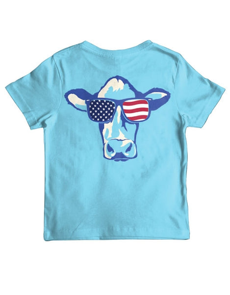 Youth USA Sunglasses Cow T-shirt by Live Oak Brand