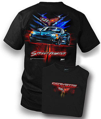 C6 Corvette T-Shirt - Street Fighter - Medium & 3X only