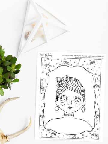 March Freebie: Printable Coloring Page