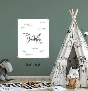 Free Printable: Giant Thankful Poster