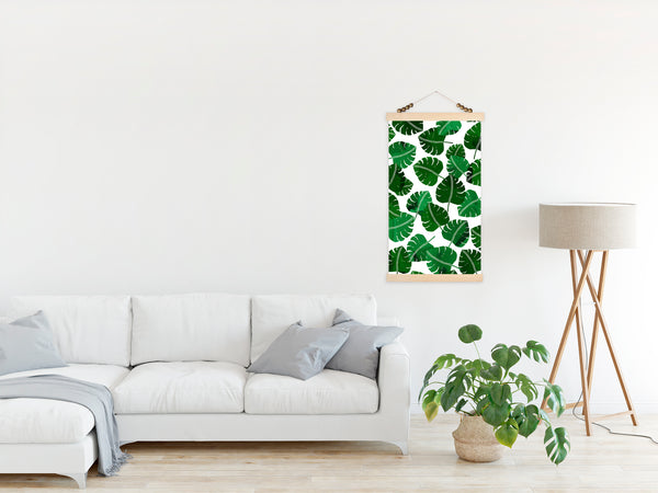 Monsterra Leaves Canvas Wall Hanging
