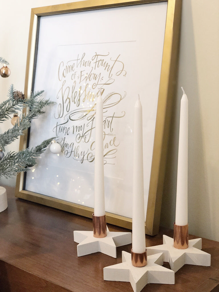 Modern, Scandinavian Tapered Candle Holders DIY