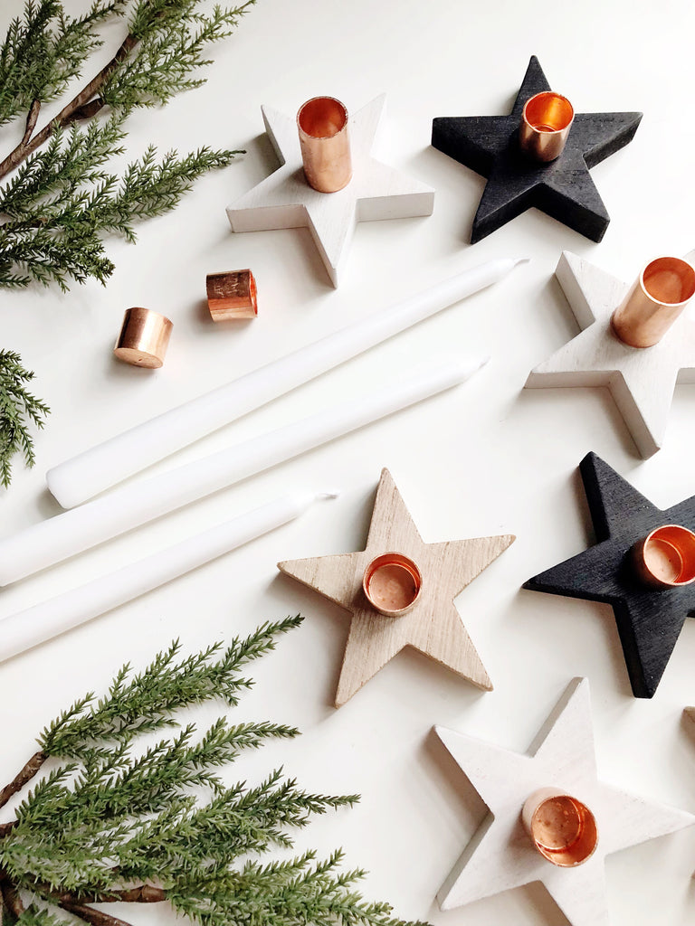 Modern, Scandinavian-Style Tapered Candle Holders